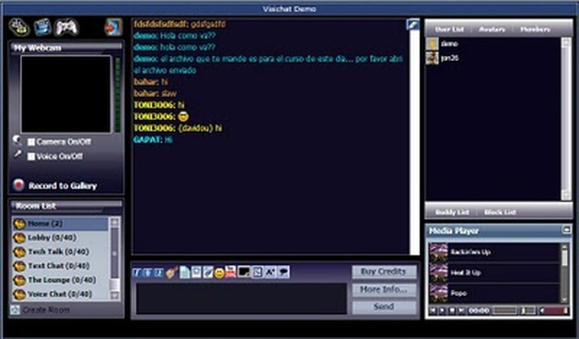 Free flash chat